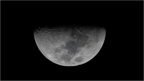Moon with dark sky