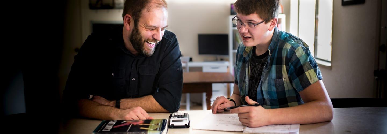 Student enjoying his 1-on-1 tutoring with Varsity Tutors