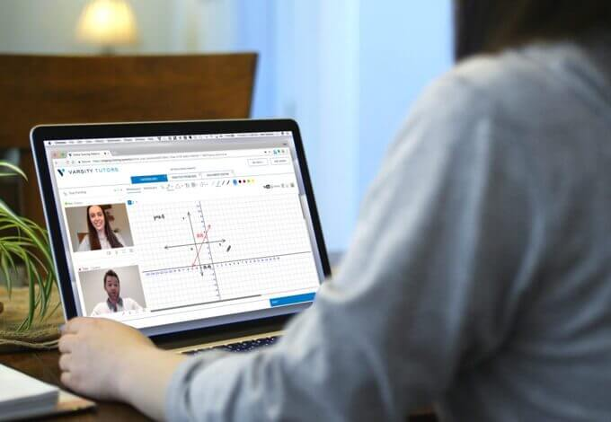 Student learning through Varsity Tutors' online tutoring system
