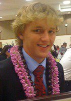 A photo of West, a tutor from Brigham Young University-Hawaii