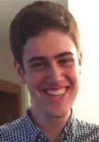 A photo of Nathaniel Ziv, a tutor from Swarthmore College