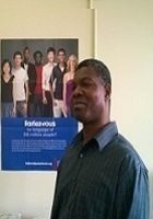 A photo of Komla, a tutor from SUNY at Albany